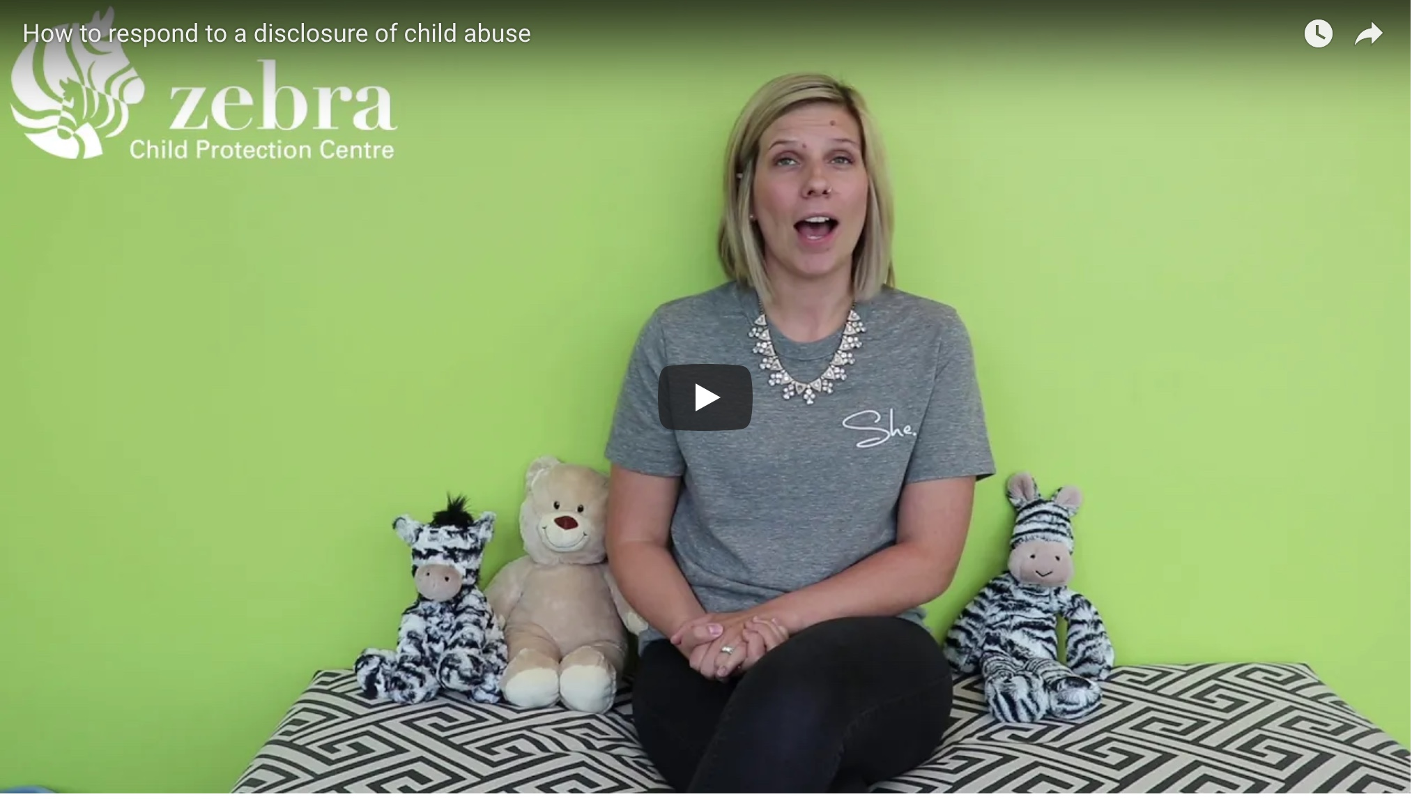 Receiving a disclosure of abuse: How to respond when a child shares their story with you